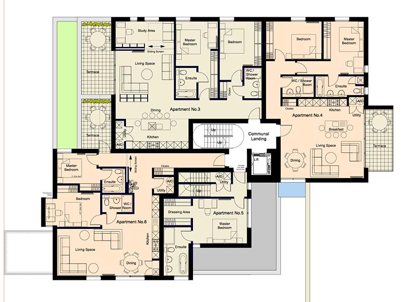 Brook House Apartments Plan