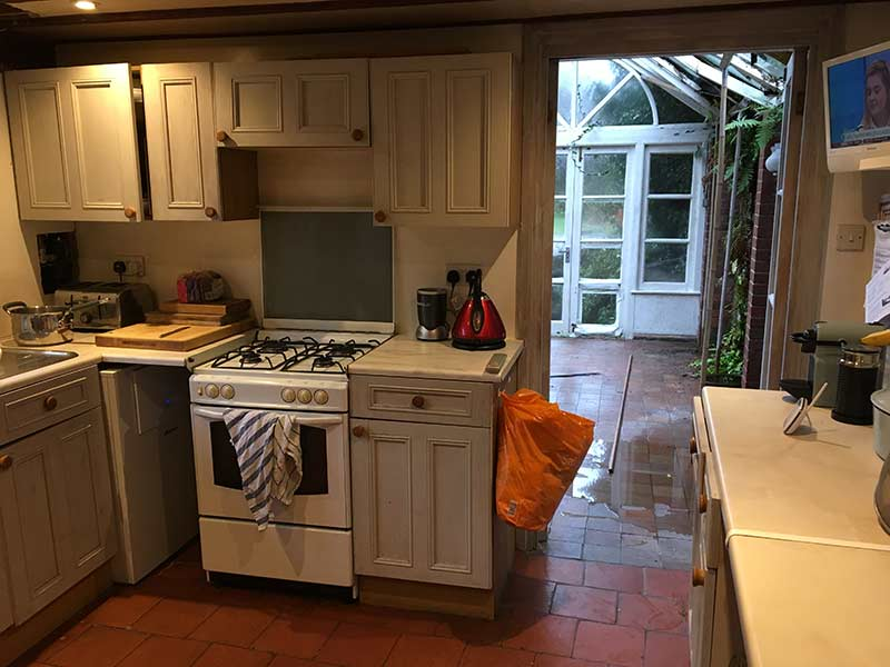 A look at the previous kitchen