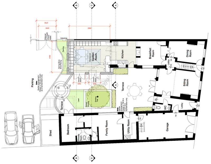 Plan drawing of the Barford extention project