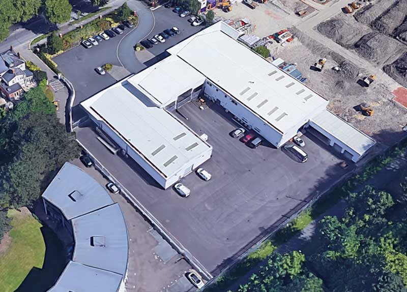 Adey Commercial Premises Aerial View