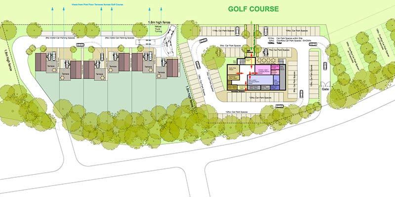 Golf-Club Site-Plan Option 1