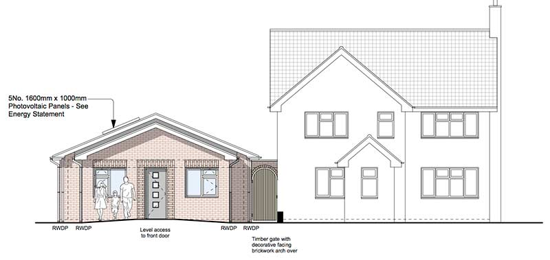 Claines Planning Front Elevation