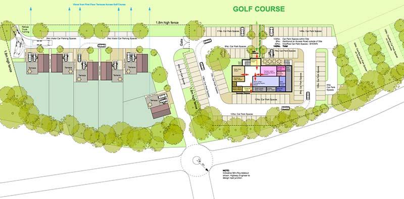 Golf-Club Site-Plan Option 2