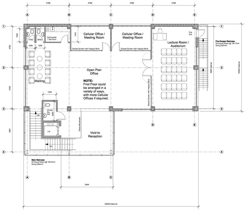 First Plan of New Premises for Adey