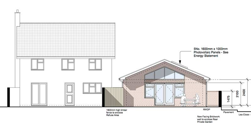 Claines Planning Rear Elevation