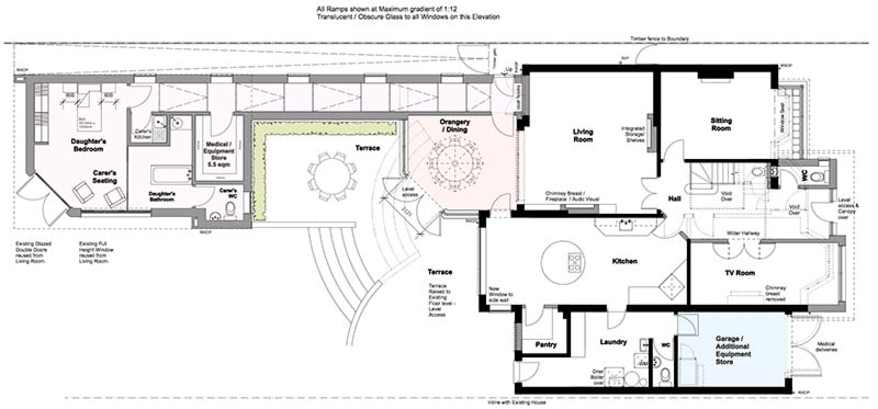 Four-Oaks Plan Of Proposed Ground-Floor