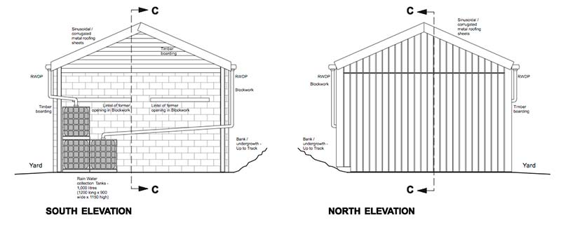 Hope Barn North & South Elevations