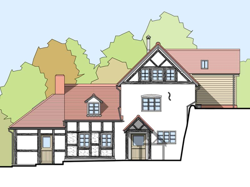 Water Mill Front Elevation