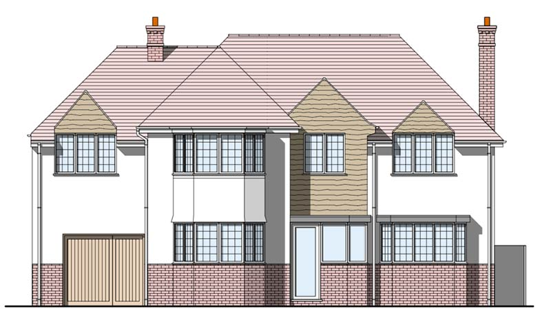 Four-Oaks Front Elevation Existing