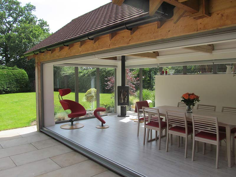 exteriror-view beautifully designed dining area in kitchen-extension