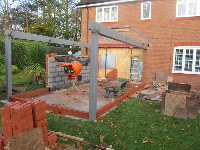 construction of our extension design