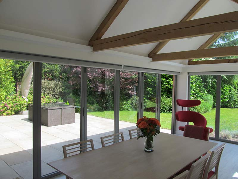 kitchen dining room extension bi-fold-doors closed