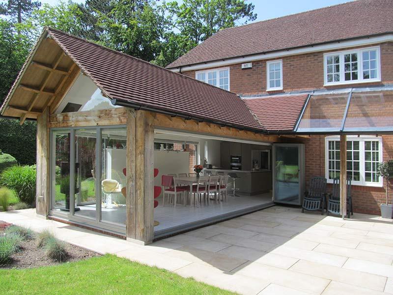 kitchen-diner-extension bi-fold-doors external-view
