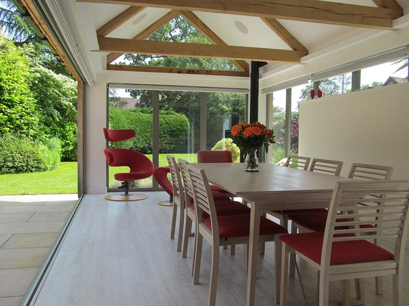 kitchen diner extension with vaulted-ceiling greenhill