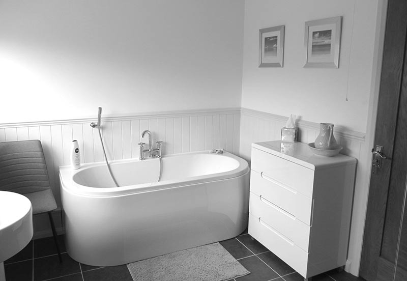 New bathroom at Ladywood property after internal reconfiguration