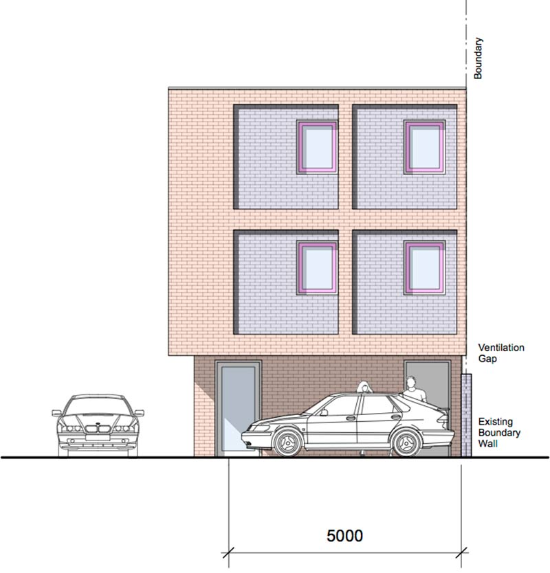 Edgbaston Mews Side Elevation